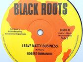 "BARRINGTON LEVY - JAH BLACK/ROBERT EMMANUEL - LEAVE NATTY BUSINESS (Black Roots/Archive 12"") photo"