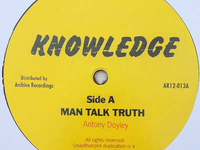 "KNOWLEDGE - MAN TALK TRUTH/LET US ALL (Knowledge 12"") main photo"