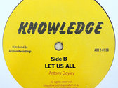 "KNOWLEDGE - MAN TALK TRUTH/LET US ALL (Knowledge 12"") photo"
