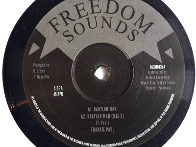 "FRANKIE PAUL - BABYLON MAN (Freedom Sounds/Archive 12"") Dubplate Mixes main photo"