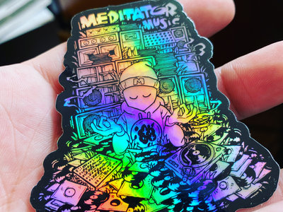 Medi Man Stack Holographic Sticker main photo