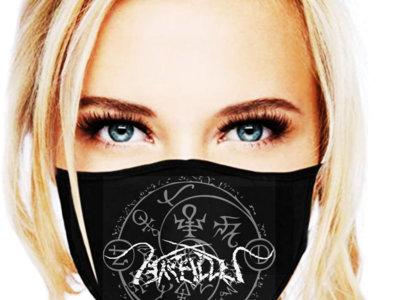 "ARALLU ""Sheild of Darkness"" facemask. main photo"