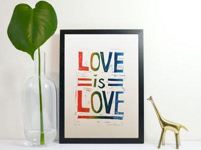 *NEW* 'Love is Love' Lino Print main photo