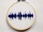 Cross-Stitched Sound Wave (small) photo