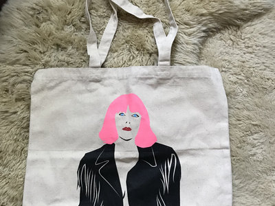 Trouble Anyway Face Large Canvas Tote (SALE 10% OFF) main photo