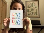 *NEW* 'Love is Love' Lino Print photo
