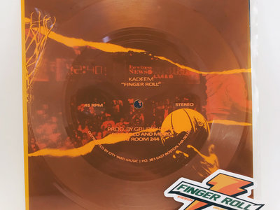 "Kadeem & Grubby Pawz - Limited Edition ""Gatorade Orange"" Flexi Disc main photo"