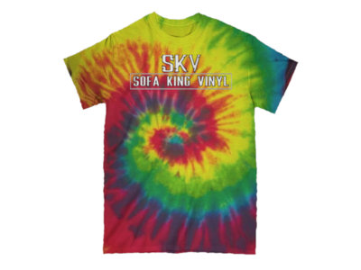 SKV Block Logo Tie Dye Tee (White) main photo