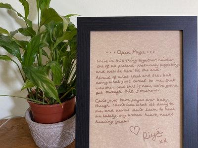 Framed Handwritten & Signed Lyrics main photo
