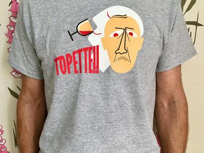 Topette!! Light Grey Logo T-shirt main photo