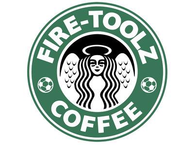"Fire-Toolz Coffee 3"" Vinyl Sticker main photo"