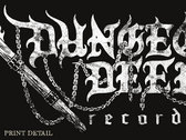 Distressed torch logo photo