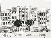 High School Was a Drag Accordion Fold Zine photo