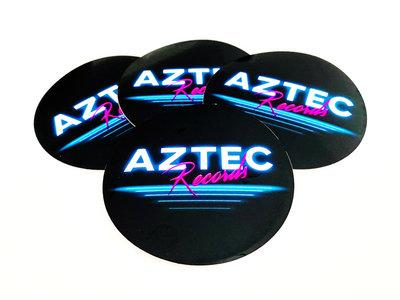 AZTEC RECORDS - Round Coated Vinyl Sticker main photo