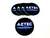 AZTEC RECORDS - Round Coated Vinyl Sticker photo