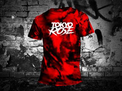 TOKYO ROSE Logo ( Red/Black Tie Dye T-Shirt) main photo