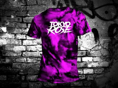 TOKYO ROSE Logo ( Purple Tie Dye T-Shirt) main photo