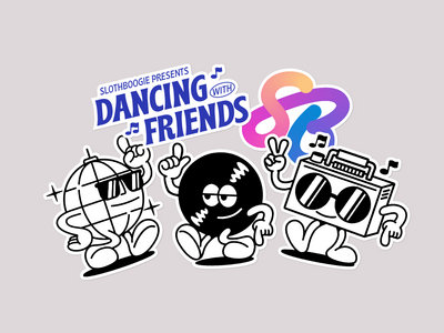 Dancing With Friends Sticker Pack main photo