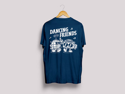 Dancing With Friends T-Shirt - Navy Blue main photo