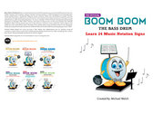 Boom Boom the Bass Drum  24 Notation Signs / Paperback Book photo