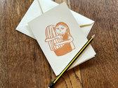 Lino Print Greeting Card photo