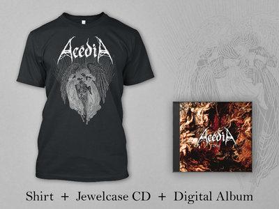"Acédia BUNDLE: Black Shirt ""Angels"" + Jewelcase CD + Digital Album ""L'Exil"" main photo"