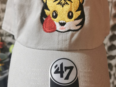 Tiger Blood Tapes x '47 Clean Up Pale Gray Embroidered Strapback Hat main photo