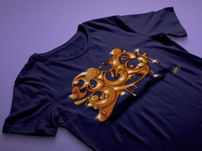 ED808 Collaboration Design T-Shirt (Navy) main photo