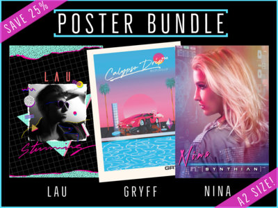 Aztec Records - 3 x A2 Posters (LAU, Gryff, NINA) [BUNDLE] main photo