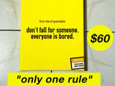 """""""only one rule"""" canvas photo"""