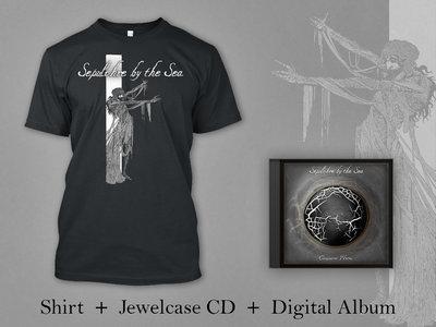 "Sepulchre by the Sea BUNDLE: Black Shirt + Jewelcase CD + Digital Album ""Conqueror Worm"" main photo"