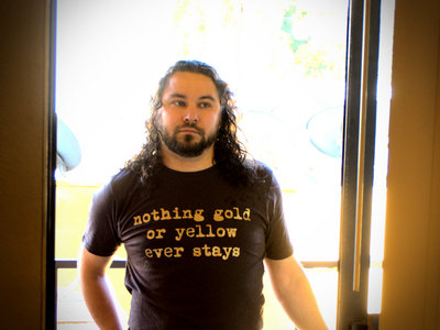 """nothing gold or yellow ever stays"" t-shirt main photo"