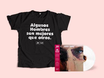 "OFERTA PACK LP Limited Edition 12"" white vinyl + CAMISETA ""Algunos Hombres son mejores que otros"" main photo"