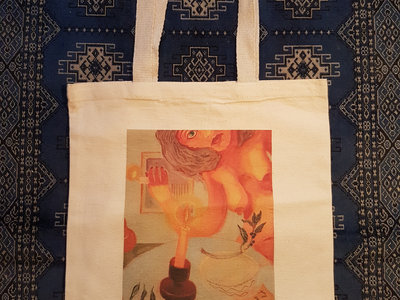 Original Artwork Canvas Tote Bag - Design A main photo