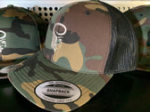 Camo Snapback Hats with Embroidered Logo photo