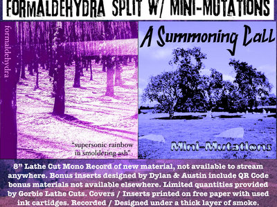 "Formaldehydra / Mini-Mutations Split 8"" Lathe main photo"