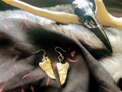 Coffin Deer Bone Earrings 002 main photo