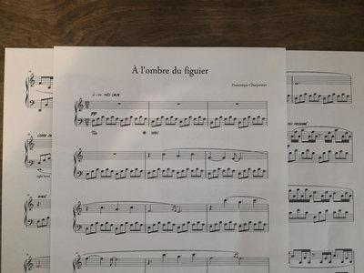 """""""À l'ombre du figuier"""" Piano Sheet main photo"""