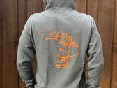 ORANGE LINE - MicBulb: Grey Hoodie (zip-up) photo