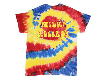 MILK! RECORDS Dazed & Confused TIE DYE TSHIRT [YELLOW / RED / BLUE] main photo