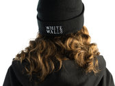 White Walls Double Embroidered Cuffed Beanie (FOUR colors!) photo