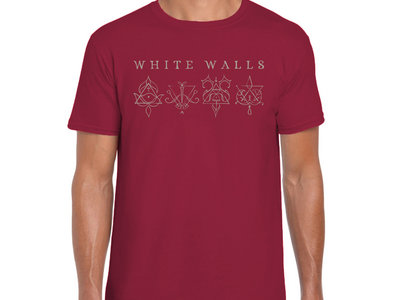 Men's White Walls T-shirt - Antique Cherry Red main photo