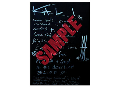 Come Kali Come - HANDWRITTEN + SIGNED lyric sheet by William M. main photo