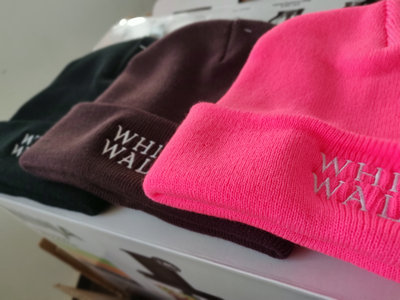 White Walls Double Embroidered Cuffed Beanie (FOUR colors!) main photo
