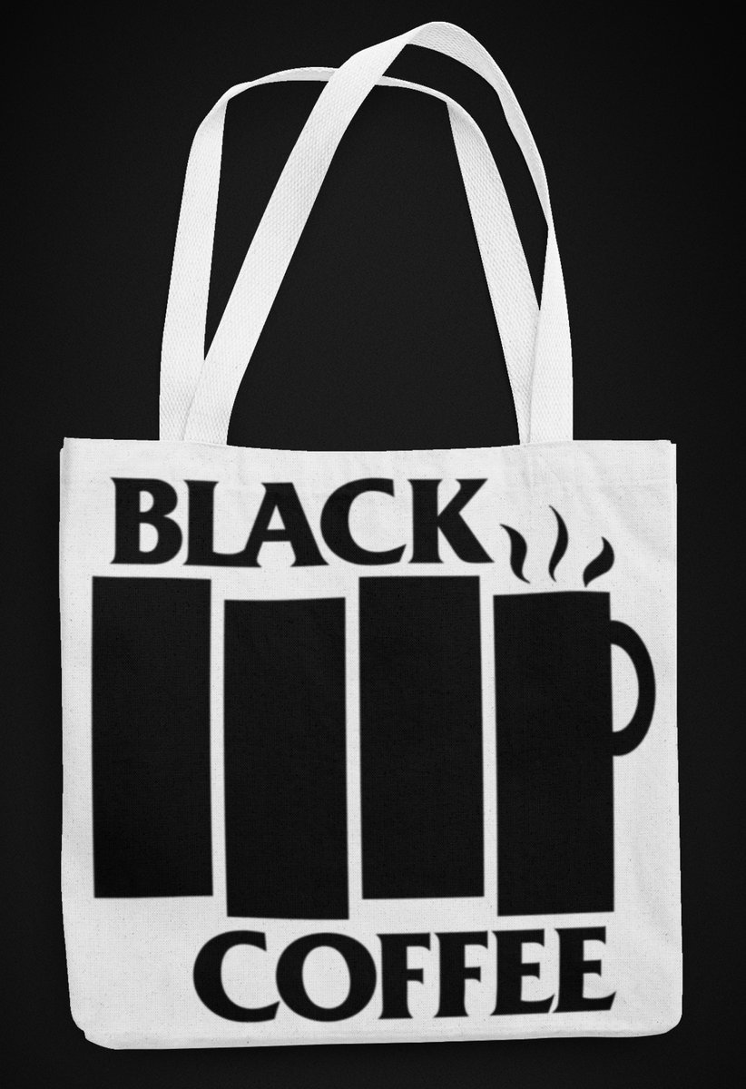 Coffee And Mascara New Black Tote Bag Shop Gifts Event Loot