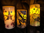 Hand Painted LED Candels photo