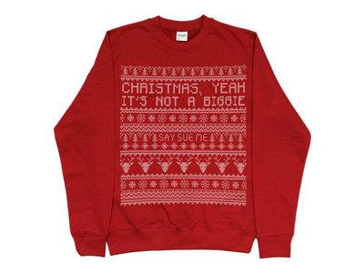 Say Sue Me Christmas (it's not a biggie) faux 'knit' print sweatshirt (2 colour options) main photo