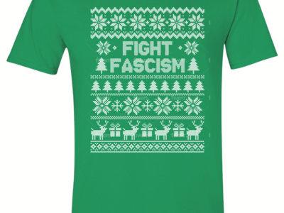 """Fight Fascism"" Holiday Tee: Green, Unisex main photo"