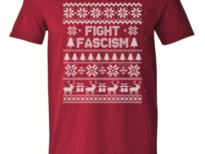 """""""Fight Fascism"""" Holiday Tee: Red, Unisex main photo"""