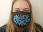 Social distancing logo face mask photo